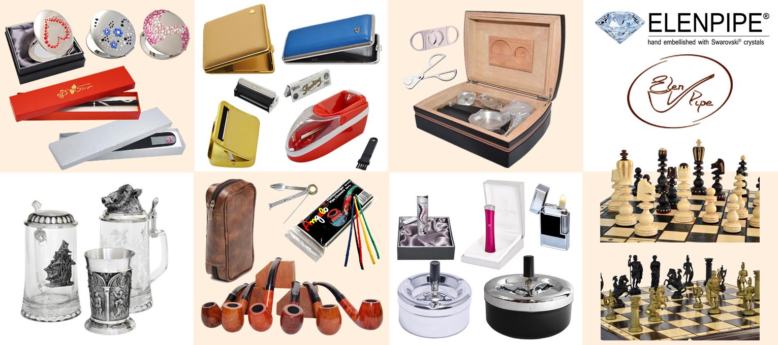 lusterka kosmetyczne, pilniki szklane, akcesoria do palenia, do cygar, fajek, papierosów, fajki tradycyjne do palenia, szisza, szachy