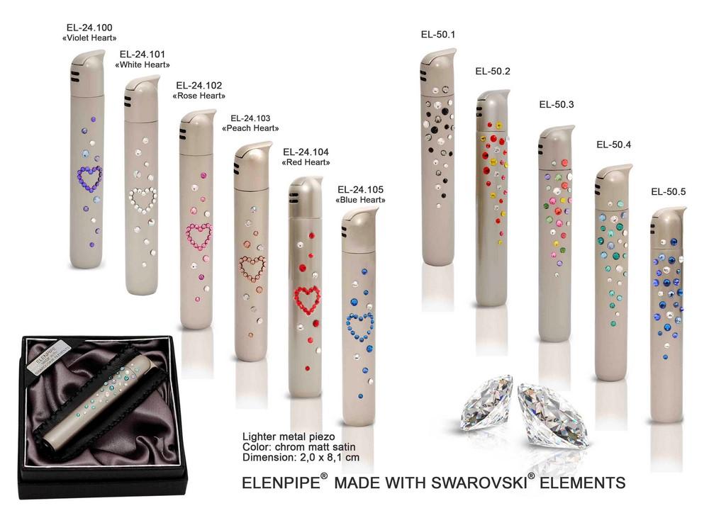 zapalniczki eleganckie kobiece z kryształami Swarovskiego elegancki prezent dla kobiety